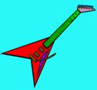 Dibujo Guitarra eléctrica II pintado por fer