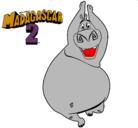 Dibujo Madagascar 2 Gloria pintado por themonstercookie