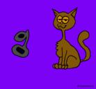 Dibujo Gato pintado por lesly