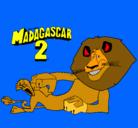 Dibujo Madagascar 2 Alex pintado por tadeo