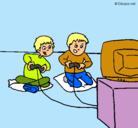 Dibujo Niños jugando pintado por Yesel