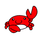 Dibujo Acuarel el cangrejo pintado por aina