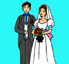 Dibujo Marido y mujer III pintado por boda