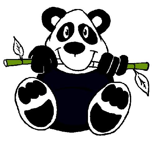 Dibujo de Oso panda pintado por Paulaypachito en Dibujosnet el