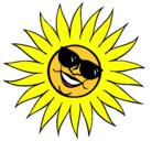 Dibujo Sol con gafas de sol pintado por ruthyurielycarol