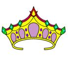 Dibujo Tiara pintado por corona