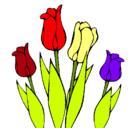 Dibujo Tulipanes pintado por bibi