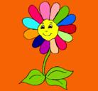 Dibujo Flor feliz pintado por jonea