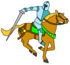 Dibujo Caballero a caballo IV pintado por Boboman