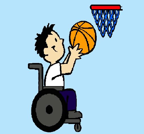 Dibujo de b squet en silla de ruedas pintado por gerardotorresramirez en el d a 15 - Deportes en silla de ruedas ...