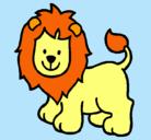 Dibujo León pintado por karina