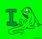 Dibujo Iguana pintado por fracnisco