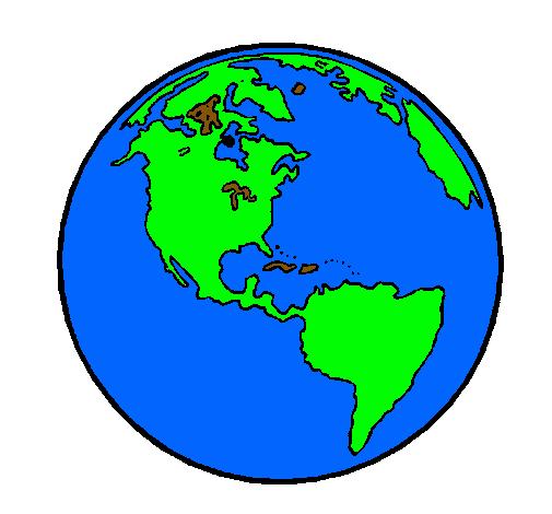 Dibujo de Planeta Tierra pintado por Tierra en Dibujos.net el día ...