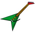 Dibujo Guitarra eléctrica II pintado por yadira
