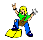 Dibujo Roquero pintado por ROCK---__---