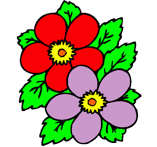 Flores dibujos para imprimir a color - Imagui