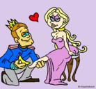 Dibujo Princesa sin zapato pintado por mago