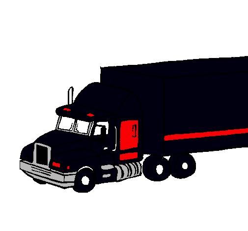Dibujo De Camión Tráiler Pintado Por Perron En Dibujos.net