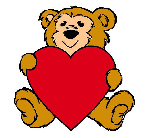 Dibujo de Oso enamorado pintado por Amor en Dibujosnet el da 22