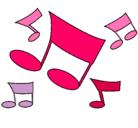 Dibujo Notas musicales pintado por sandra