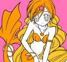 Dibujo Sirena pintado por jeidilabella