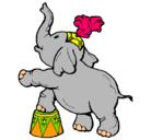 Dibujo Elefante pintado por elephant