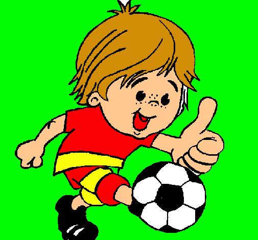 Dibujo de Chico jugando a ftbol pintado por Bobesponja en Dibujos