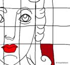 Dibujo Mosaico romano pintado por beyonce