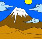 Dibujo Monte Fuji pintado por angela