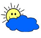 Dibujo Sol y nube pintado por narluidis