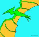 Dibujo Terodáctilo pintado por t-rex