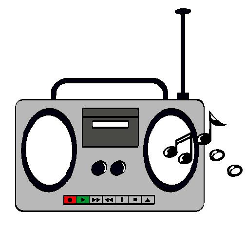 Dibujo de Radio cassette 2 pintado por Grabadora en Dibujos.net el ...