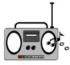 Dibujo Radio cassette 2 pintado por grabadora
