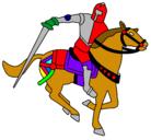 Dibujo Caballero a caballo IV pintado por michael