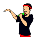 Dibujo Rapero pintado por lomejorsoloyo
