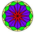 Dibujo Mandala 42 pintado por ayllu