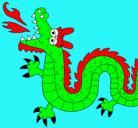 Dibujo Dragón escupiendo fuego II pintado por amigazazo
