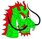 Dibujo Cabeza de dragón pintado por metamorfala