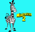 Dibujo Madagascar 2 Marty pintado por basti