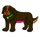 Dibujo Perro pigmento pintado por guilcon