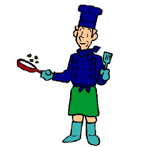 Cocinero cocinando