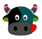 Dibujo Vaca pintado por taco
