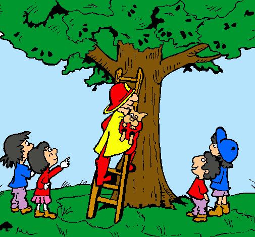 Dibujo de Bombero al rescate pintado por Caricatura en Dibujos.net ...
