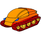 Dibujo Nave tanque pintado por camiondeguerra