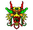 Dibujo Cara de dragón pintado por koto