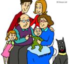 Dibujo Familia pintado por Manolito