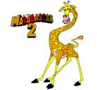 Dibujo Madagascar 2 Melman pintado por isabellaferrarimariavaler