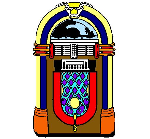 Máquina de discos de los años 50