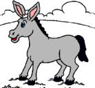 Dibujo Potrillo pintado por burro