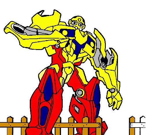 Dibujo De Transformer Pintado Por Transformers En Dibujos